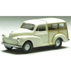 Morris Minor Traveller Old English White