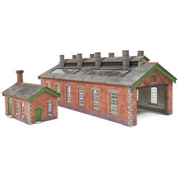 N Scale Double Track Engine Shed