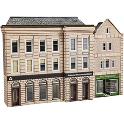 N Scale Low Relief Bank & Shop