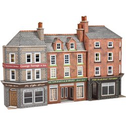 N Scale Low Relief Pub & Shops