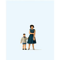 Mother and Son Figure