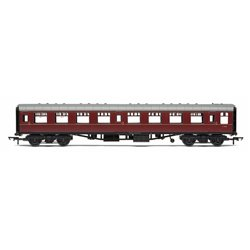 BR, Mk1 Coach Tourist Second Open, E4656, Maroon (no crest) - Era 5