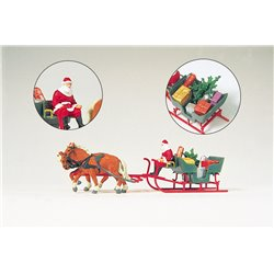 Horse Drawn Sleigh with Father Christmas and Presentss