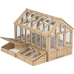00/H0 Scale Greenhouse