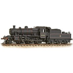 LMS Ivatt 2MT 46460 BR Lined Black (Early Emblem) Weathered