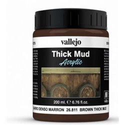 Vallejo Weathering Effects 200ml - Brown Thick Mud
