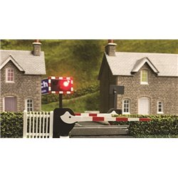 Level Crossing Barrier Set with Light & Sound (OO)