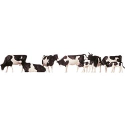 Black and White Cows (8) Figure Set