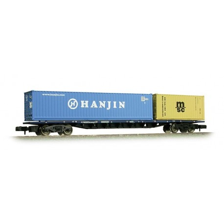 63ft Bogie Wagon One 40ft One 20ft Container 'Hanjin MSC