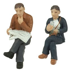 Sitting Passengers B - 2 figures set