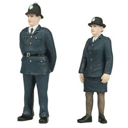 Policeman and Policewoman - 2 figures set