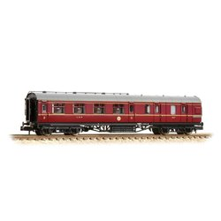 LMS Stanier Brake Third Corridor LMS Crimson Lake