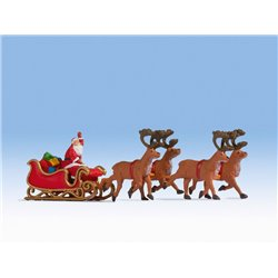 Santa Claus with Reindeer Hauled