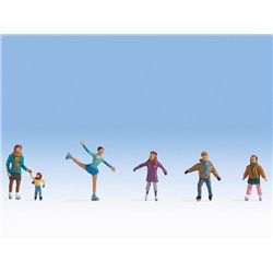 Ice Skaters (6) Figure Set