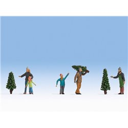 Selling Christmas Trees (5) Figure Set
