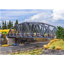 HO Single track arched steel bridge (excluding