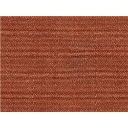 3D Cardboard Sheet Clinker red red, 25 x 12,5 cm