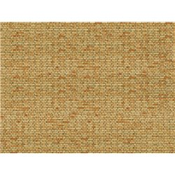 3D Cardboard Sheet Clinker yellow-multicoloured, 25 x 12.5 cm