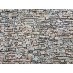 3D Cardboard Sheet Quarrystone Wall multi-coloured, 25 x 12.5 cm