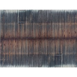 3D Cardboard Sheet Timber Wall weathered, 25 x 12.5 cm