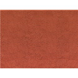3D Cardboard Sheet Plain Tile red, 25 x 12.5 cm