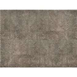3D Cardboard Sheet Plain Tile grey, 25 x 12.5 cm