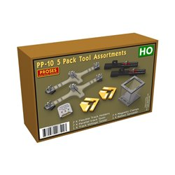 5 Pack Tool Assortments for HO