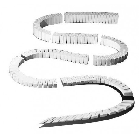 """2% Foam Incline/Decline set - Pack of 8 sections from 0 to 4.5"""""""