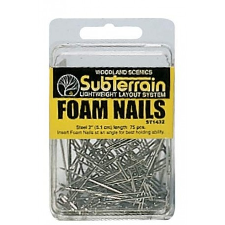 Foam Nails 75/Pkg 2in. Ea