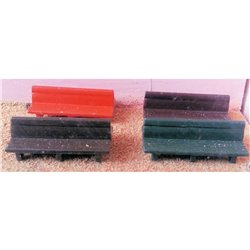 Painted 2 wooden Platform double/twin bench seats (OO Scale 1 /76th)