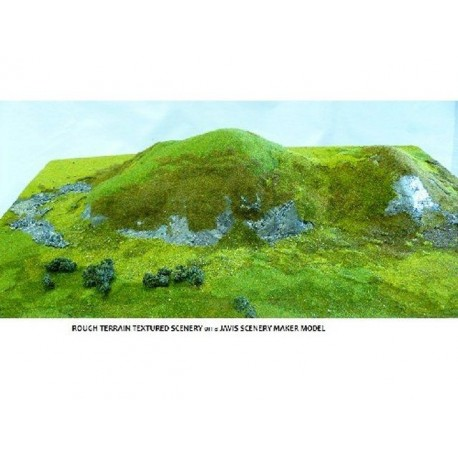 Summer mix rough terrain textured scenery covering