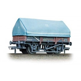 5 Plank China Clay Wagon With Hood BR Bauxite (Weathered)