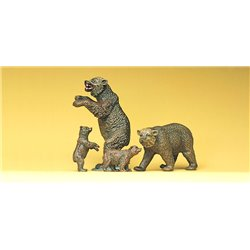 Circus Brown Bears (4) Figure Set