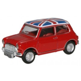 Austin Mini Car Tartan Red/Union Flag