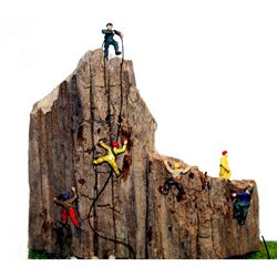 6 Assorted Rock Climbers (N scale 1/148th)