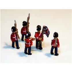 Guards Colour Party (5 figures) (N Scale 1/148th)