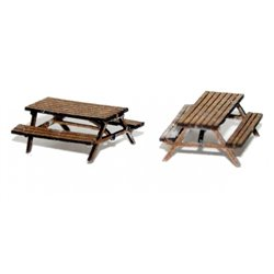 Pair Pub Table/Bench (N scale 1/148th)