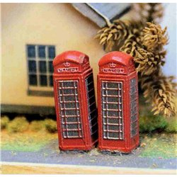 Painted Telephone Box ( N Scale 1/148th)