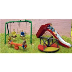 N (1/148 - 1/160) Childrens Playground & Figures - Unpainted(5) One Girl Four Boys by Langley