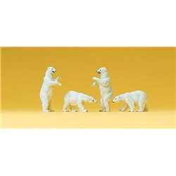 Circus Polar Bears (4) Figure Set