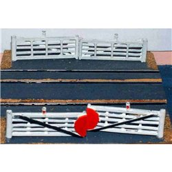 A9p Painted Crossing Gates (4) N Scale 1:148