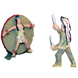 CIR7 Red Indian Knife Throwing act Unpainted Kit OO Scale 1:76