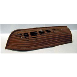 OM6 Rotten Rowing Boat (holes in hull) Unpainted Kit O Scale 1:43