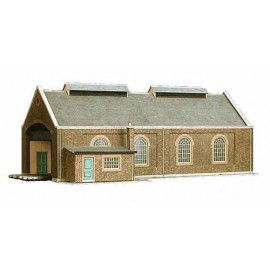 Two Track Engine Shed H: 126mm (overall size: 297 x 182mm)- Card Kit