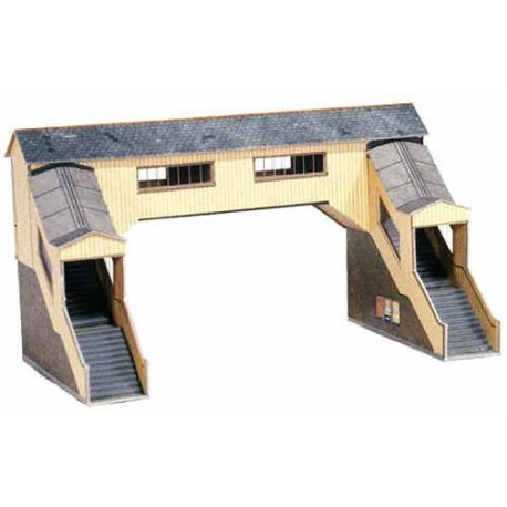 Covered Footbridge H: 103mm (arch: 60mm) - Card Kit