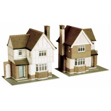 2 Detached Houses H: 110mm - Card Kit