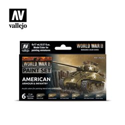Vallejo Model Color Set - WWII American Armour & Infantry