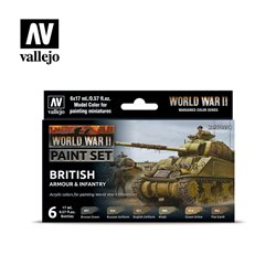 Vallejo Model Color Set - WWII British Armour & Infantry