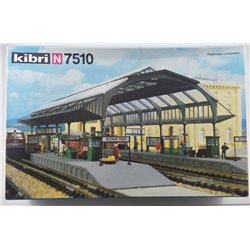 Kibri 7510 N gauge plastic kit of Station with canopy (used)