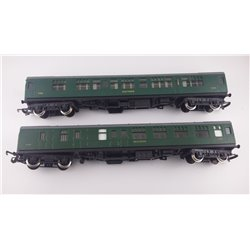 Bundle of 2x Mk1 Hornby Southern coaches 00 gauge (used)